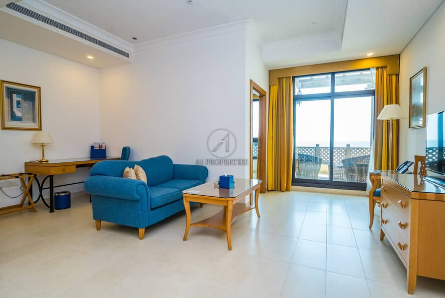 Sea View |Fully Furnished |Beachfront Serviced 1BR