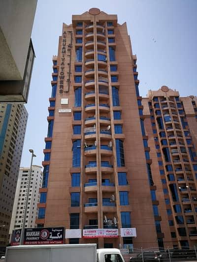 HIGH FLOOR WITH MAIDS ROOM NEGOTIABLE  3 BEDROOM HALL. 42K Nuaimiya towers