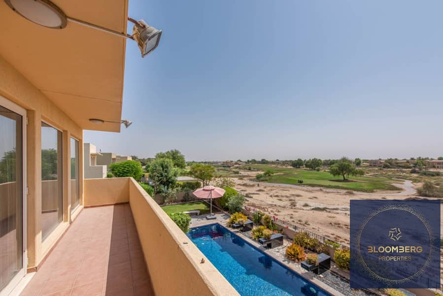 Private pool community view   Arabian ranches