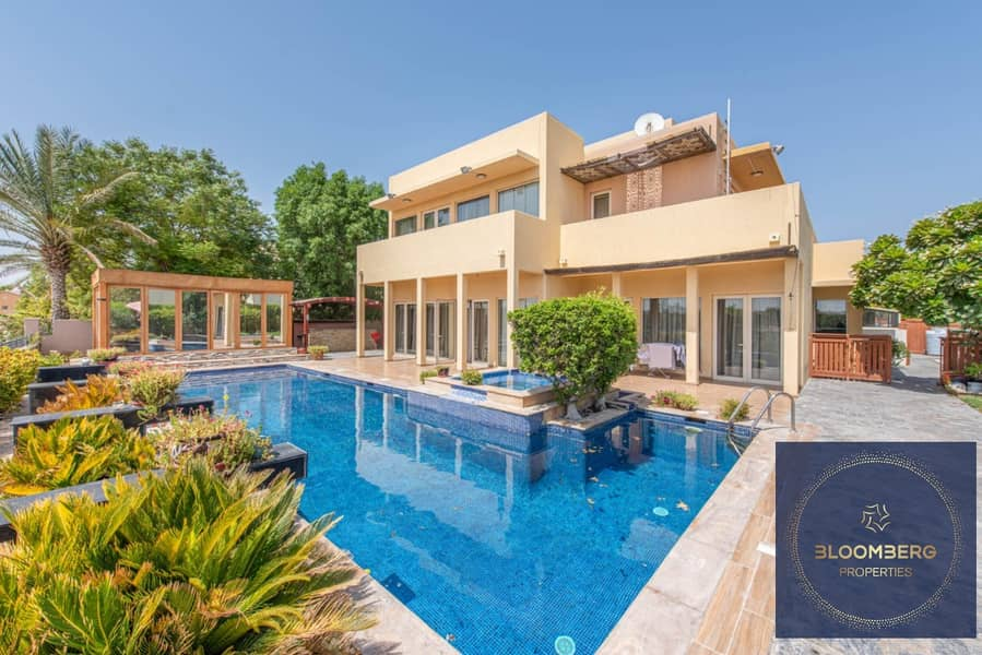 2 Private pool community view   Arabian ranches