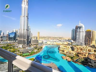 2 Bedroom Flat for Rent in Downtown Dubai, Dubai - Upgraded | 2 Beds + Study | Full Burj Khalifa View