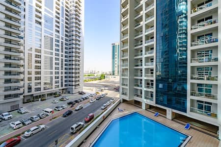 2 Bedroom Apartment for Rent in Barsha Heights (Tecom), Dubai - 2 BEDROOM WITH A POOL VIEW