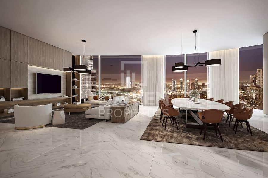 High Quality 4 Bed Penthouse in Downtown