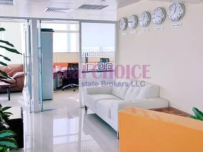 مکتب  للايجار في أبراج بحيرات الجميرا، دبي - Fully Fitted Office   High Floor   Jumeirah Bay X2