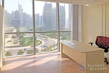 مکتب  للبيع في أبراج بحيرات الجميرا، دبي - Fitted Unit | Partitioned | Close to Metro
