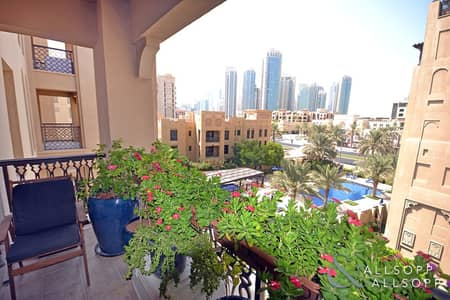 فلیٹ 2 غرفة نوم للايجار في المدينة القديمة، دبي - Two Bedrooms | Study | Parking | Shower