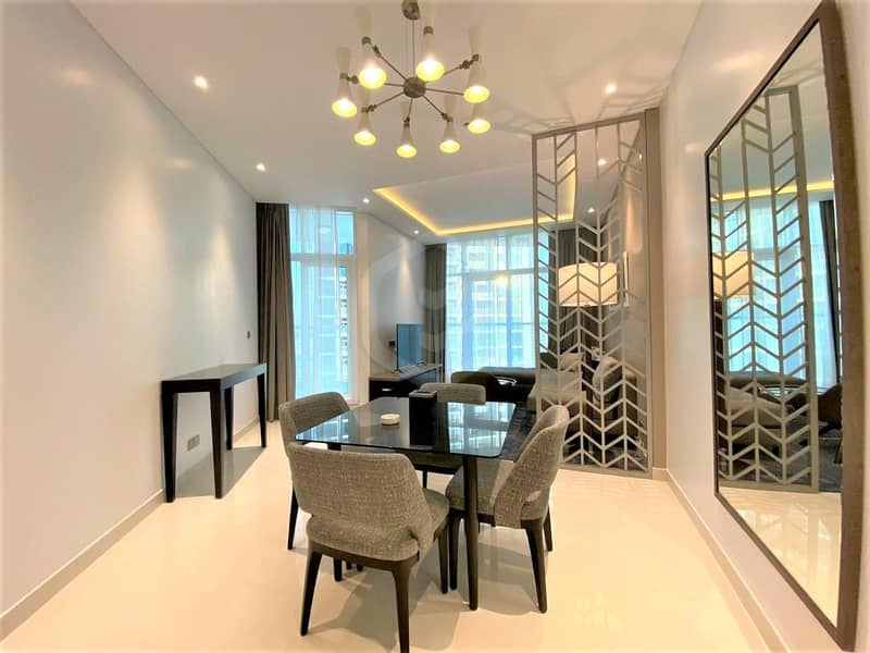 On High Floor | Furnished 1 Bedroom | Canal View