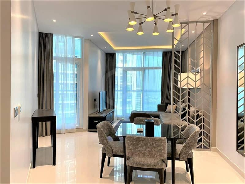 2 On High Floor | Furnished 1 Bedroom | Canal View