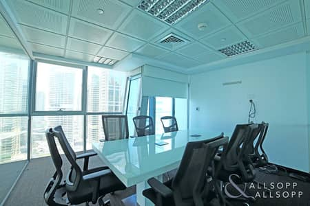 Office for Rent in Jumeirah Lake Towers (JLT), Dubai - Furnished Office | Terrace | 4 Parking Spaces
