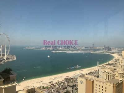2 Bedroom Apartment for Rent in Jumeirah Beach Residence (JBR), Dubai - Partial Sea View|Big Layout|Well-kept 2BR