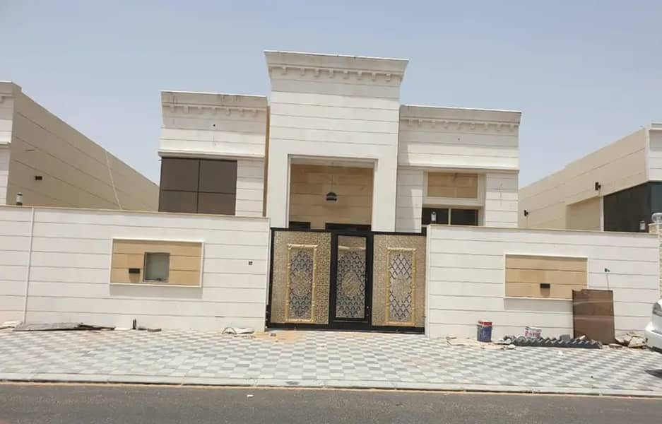 A golden opportunity to housing Sheikh Zayed, a villa for sale on the asphalt street in Al Yasmeen area, opposite the Rahmaniyah area in Sharjah, with super deluxe finishes and without advance payments or any commission for the real estate broker
