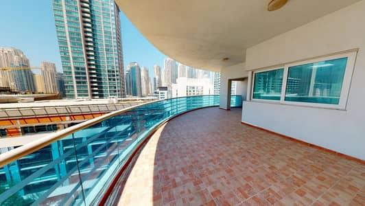 2 Bedroom Apartment for Rent in Dubai Marina, Dubai - Huge terrace | Kitchen appliances | Contactless tours
