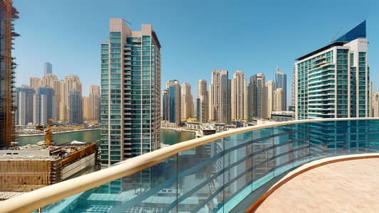 3 Bedroom Apartment for Rent in Dubai Marina, Dubai - Marina views | 1K AED commission only | Huge terrace