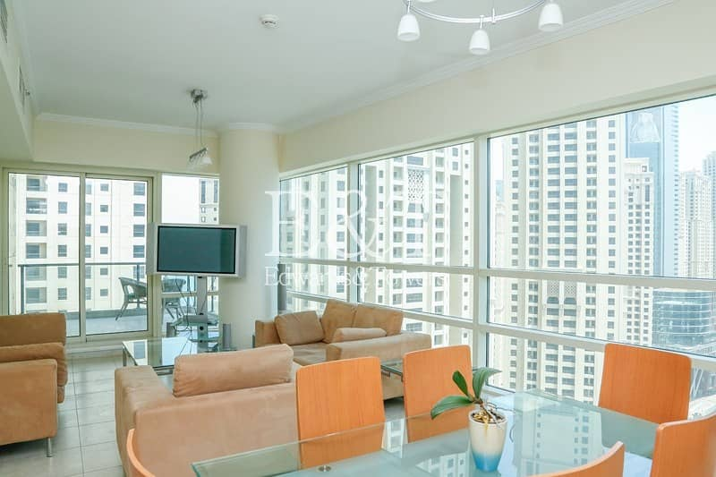 2 Furnished or Unfurnished|High Floor|Marina View