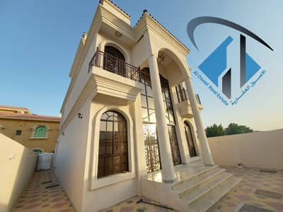 Villa for sale in Ajman on the corner of two streets, very excellent, close to services, with the possibility of bank financing