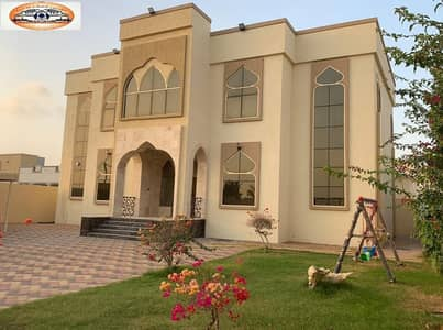 5 Bedroom Villa for Sale in Al Raqaib, Ajman - Villa for sale with water, electrical and air conditioners, with attractive specifications, wonderful design, super duplex finishing, with the possibility of bank financing