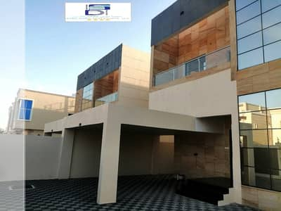 5 Bedroom Villa for Sale in Al Rawda, Ajman - For sale, a 5-room villa of distinctive modern European design and super deluxe finishing in Ajman, freehold for all nationalities