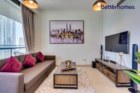1 Bedroom Apartment for Rent in Downtown Dubai, Dubai - Fully furnished | Large Balcony | High floor