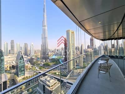 شقة 2 غرفة نوم للايجار في وسط مدينة دبي، دبي - 2 Bedrooms | High Floor | Burj Khalifa Fountain View | Fully Furnished | Available Now