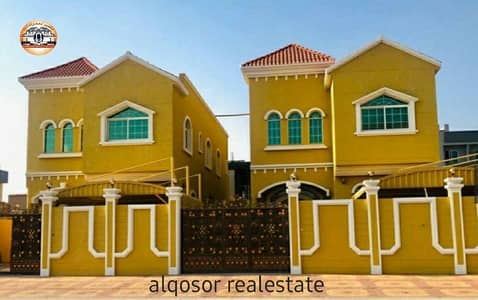 5 Bedroom Villa for Sale in Al Mowaihat, Ajman - Villa for sale in Ajman, Al Mowaihat area, two floors, different design, with the possibility of bank financing