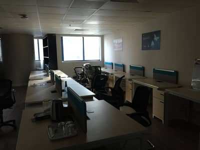 Office for Rent in Ajman Downtown, Ajman - Spacious Office Glass Partition  In Commercial Tower