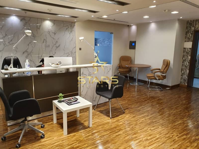 No Commission !! Furnished Office for Rent in Business Bay