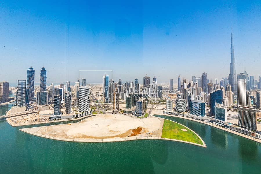 Fully Fitted with Burj Khalifa and Lake Views