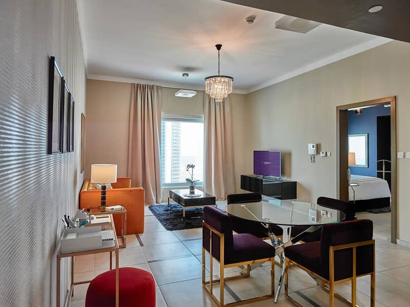 Indoor Walking Distance to Dubai Mall   1BR Fully Furnished  No Commission