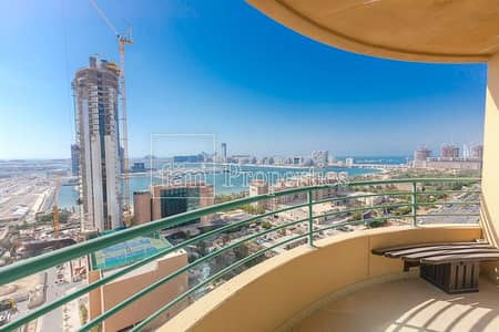 2 Bedroom Apartment for Rent in Dubai Marina, Dubai - Furnished | Storage Room | Terrace with Sea Views