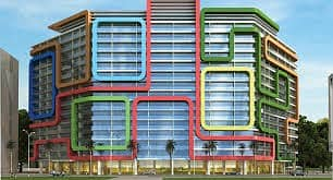 Chiller free brand new studio with balcony in arabian gates of Dubai silicon oasis for rent 25000= year