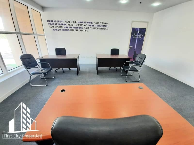 Modern and Fully Equip Offices in Khalidiyah Street