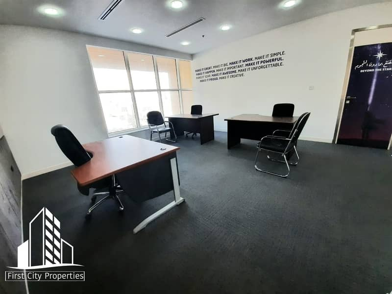 2 Modern and Fully Equip Offices in Khalidiyah Street