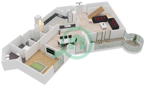 Al Khudrawi - 4 Bedroom Penthouse Type G Floor plan