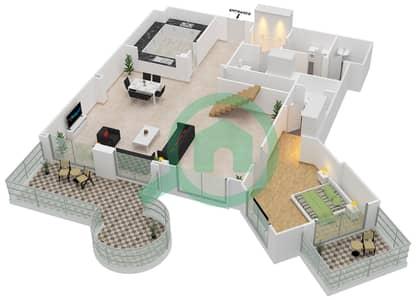 Al Khudrawi - 4 Bedroom Penthouse Type H Floor plan