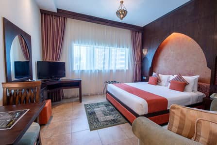 Hotel Apartment for Rent in Sheikh Zayed Road, Dubai - Studio suite 15 minutes drive to Down town