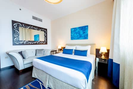 Hotel Apartment for Rent in Sheikh Zayed Road, Dubai - Executive studio 15 minutes drive to Down town