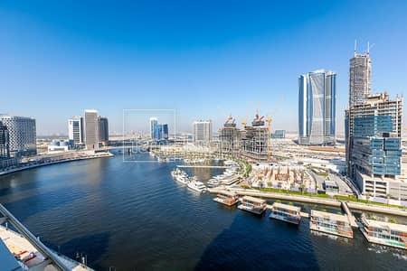 شقة 2 غرفة نوم للبيع في الخليج التجاري، دبي - Corner 2BR   High Floor   Full Canal View