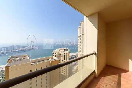 2 Bedroom Apartment for Rent in Jumeirah Beach Residence (JBR), Dubai - Full Sea View | Spacious 2 Bedroom | Balcony