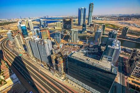 1 Bedroom Apartment for Sale in Downtown Dubai, Dubai - High Floor! Canal+Skyline+Creek Tower View!