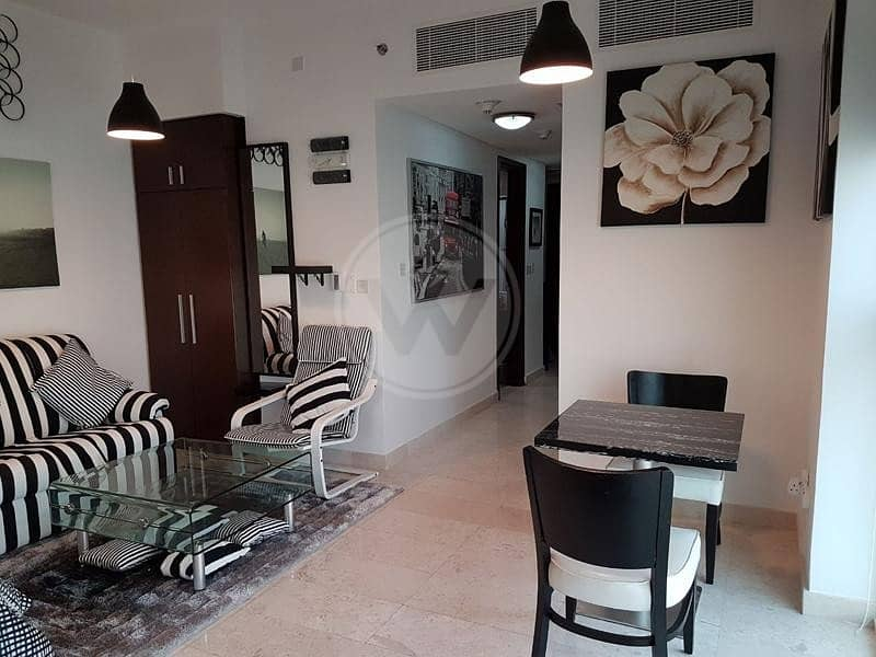 Fully furnished apartment on a high floor