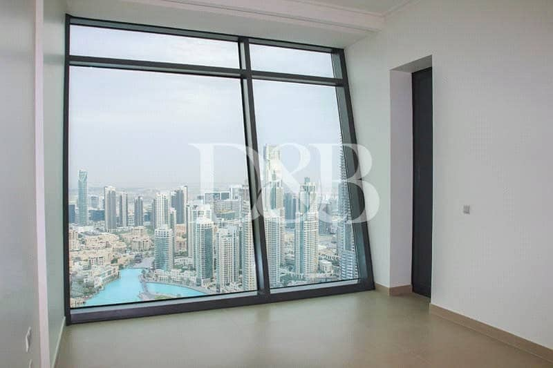 10 Vacant | Burj and Fountain View | High Floor