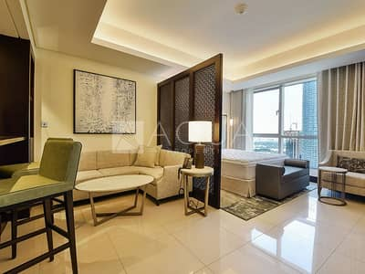 Hotel Apartment for Rent in Downtown Dubai, Dubai - Spacious Studio I All Inclusive I Available