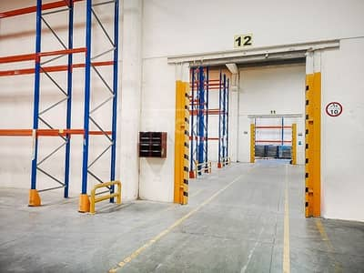 Warehouse for Rent in Dubai Industrial Park, Dubai - Ready Warehouse with Racking   offices   AC