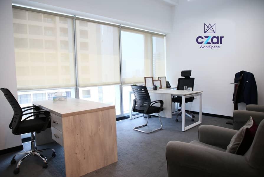 Elite Customized office on SZR near Metro at TECOM and AL QUOZ
