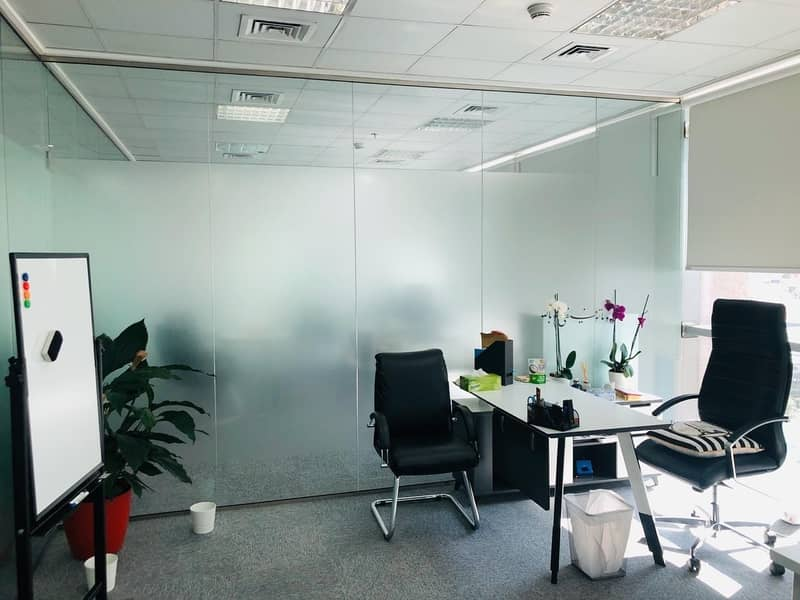 2 Elite Customized office on SZR near Metro at TECOM and AL QUOZ