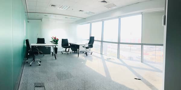 Office for Rent in The Greens, Dubai - Exquisite Price Office @34K with a View on SZR