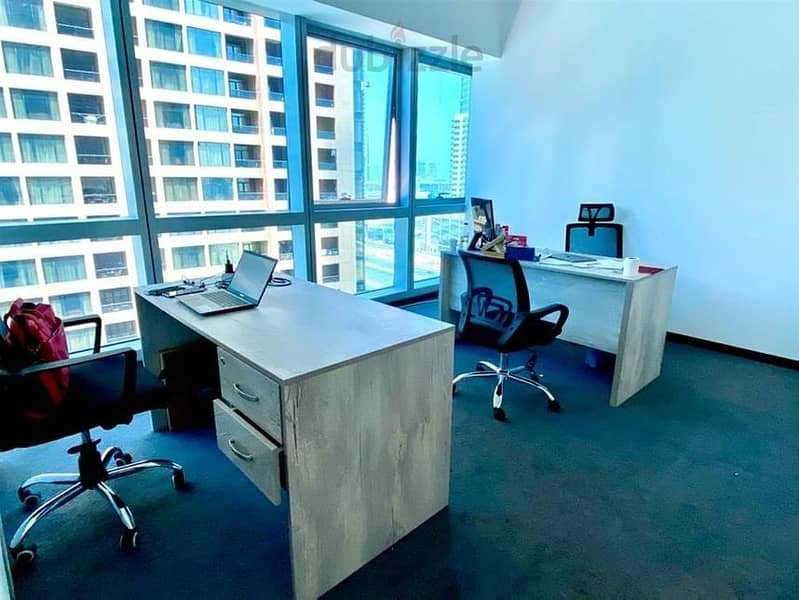 2 LUXURIOUS FURNISHED OFFICE NEXT TO METRO AT AED 27999!