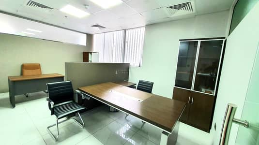 Office for Rent in Business Bay, Dubai - NO COMM! 100sqft Ofc Space for rent with Ejari & View Near Metro