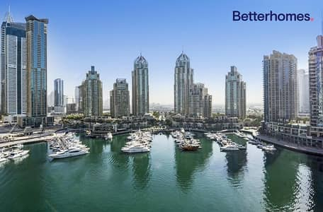 1 Bedroom Flat for Rent in Dubai Marina, Dubai - Full Marina View | With Kitchen Appliances