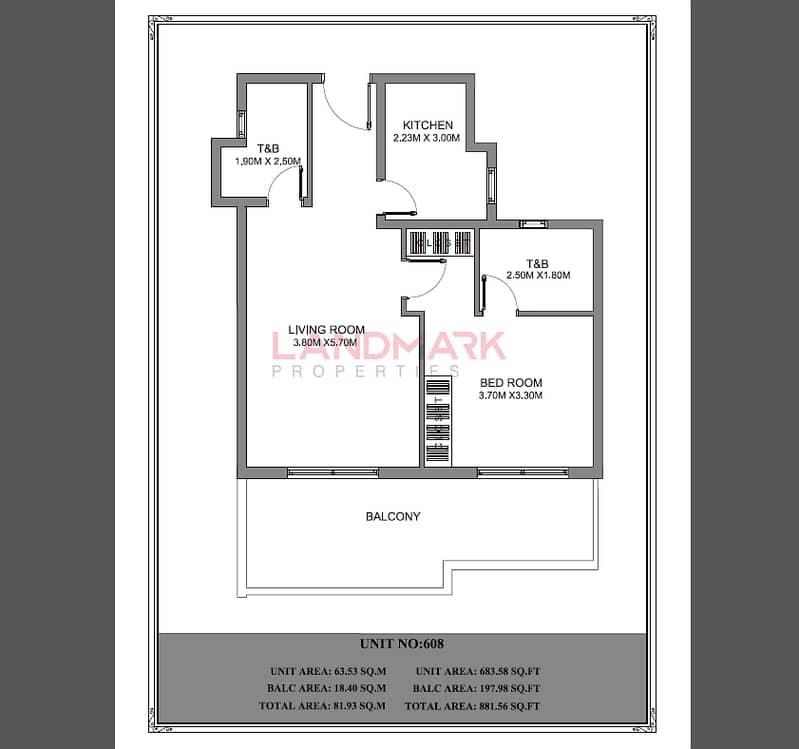 45 HOT!   Brand New Large 1BR   2 Full Bathroom   Huge Terrace   Top Floor   Car Park   Last Unit
